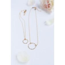 Hammered Hoop Necklace